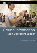 Lean Operations see below